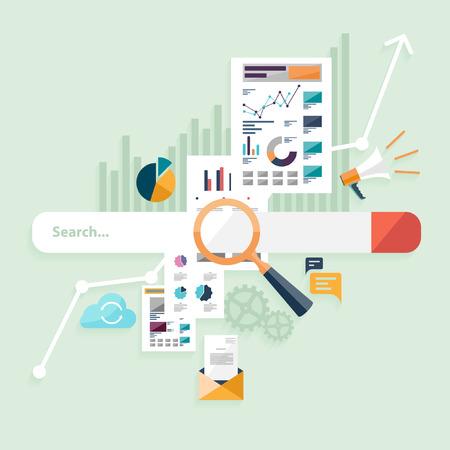 Illustration pour Search bar. See concept. Flat design. - image libre de droit