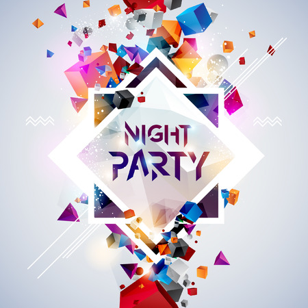 Ilustración de Abstract background for party poster - Imagen libre de derechos