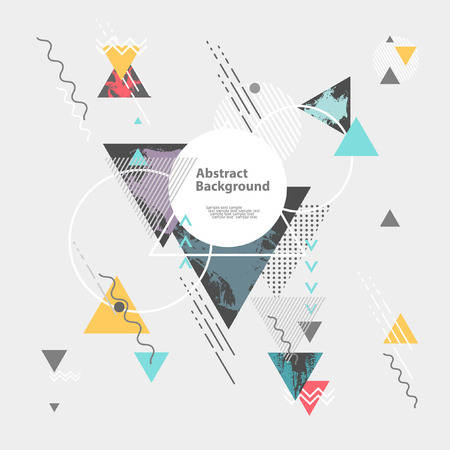 Illustration for Abstract modern geometric background - Royalty Free Image