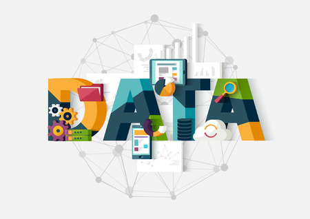 Illustration pour Data analytics. Flat design. - image libre de droit