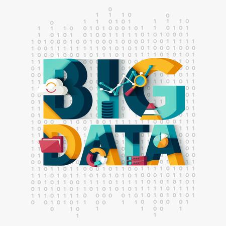 Illustration pour Big data concept. Typographic poster. - image libre de droit