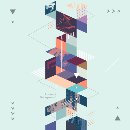 Illustration pour Abstract modern geometric background - image libre de droit
