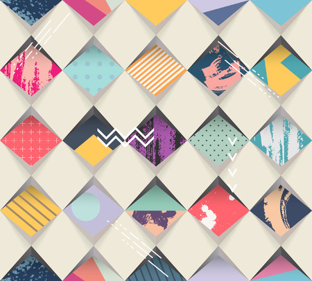 Illustration for Abstract seamless geometric background - Royalty Free Image