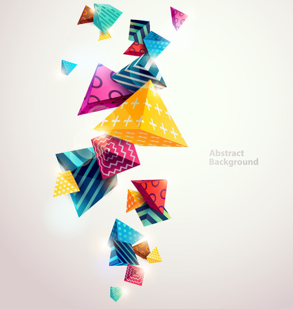 Ilustración de Abstract colorful background with geometric elements - Imagen libre de derechos