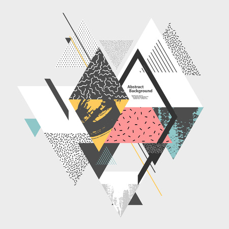 Illustration pour Abstract art background with geometric elements - image libre de droit
