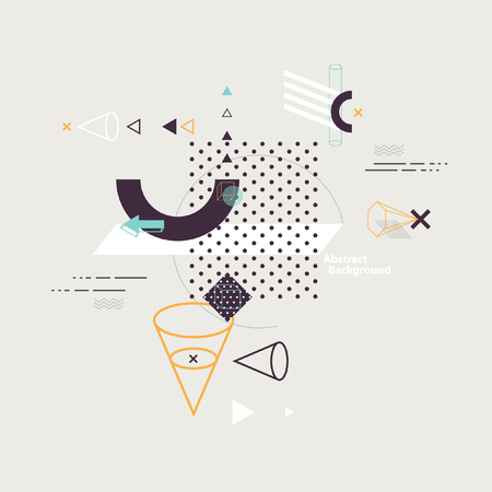 Illustration pour Abstract composition of geometric elements - image libre de droit