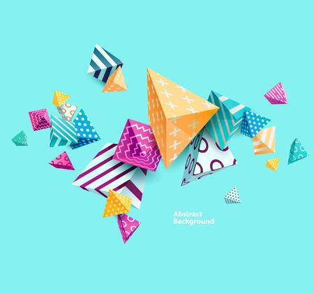 Ilustración de Abstract colorful background with geometric elements - Imagen libre de derechos