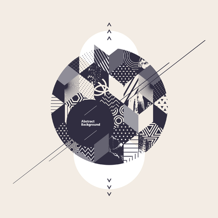 Illustration for Abstract geometric background with circle - Royalty Free Image