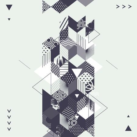 Illustration pour Abstract art geometric background - image libre de droit