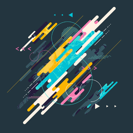 Ilustración de Abstract dynamic geometric background - Imagen libre de derechos