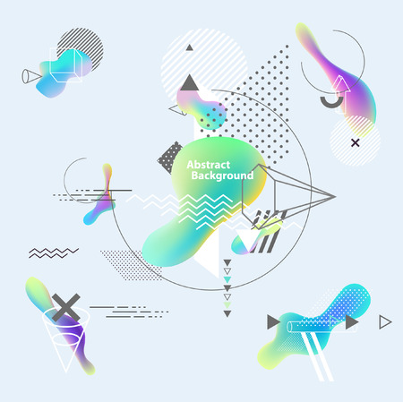 Ilustración de Abstract multicolor geometric background - Imagen libre de derechos
