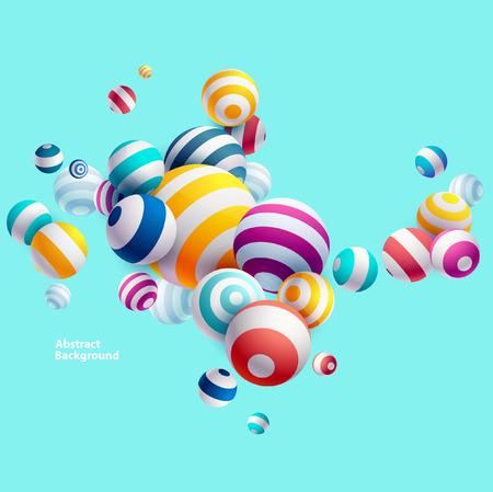 Ilustración de Multicolored decorative balls. Abstract illustration. - Imagen libre de derechos