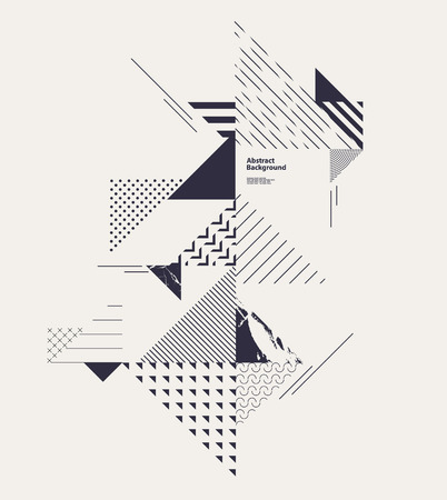 Illustration pour Abstract modern geometric composition - image libre de droit