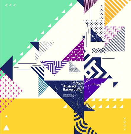 Illustration pour Abstract geometric composition with decorative elements - image libre de droit