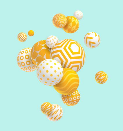 Illustration for 3D decorative balls. Abstract vector illustration. - Royalty Free Image