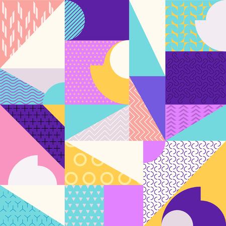 Illustration pour Abstract multicolored geometric pattern - image libre de droit