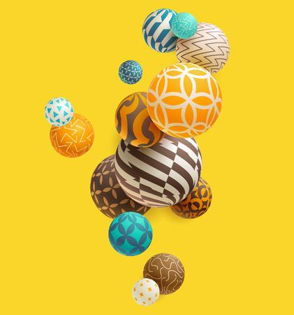 Illustration pour Multicolored decorative balls. Abstract vector illustration. - image libre de droit