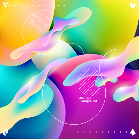 Illustration for Plastic colorful shapes. Abstract background - Royalty Free Image