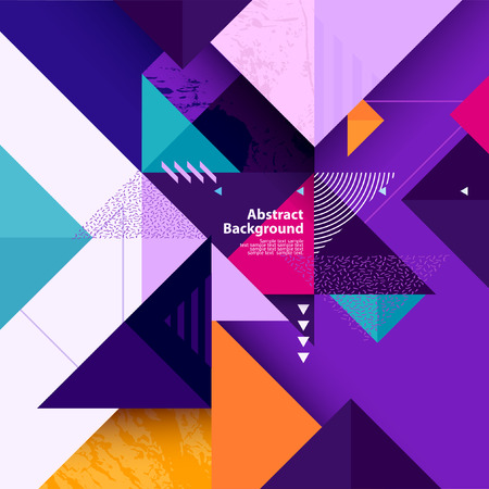 Illustration for Geometric background of multi-colored triangles - Royalty Free Image