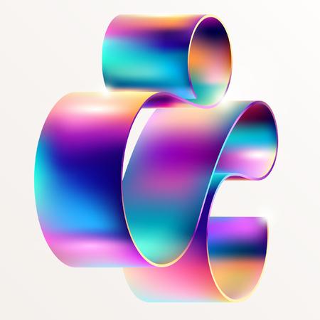 Ilustración de Multicolored curved line - Imagen libre de derechos