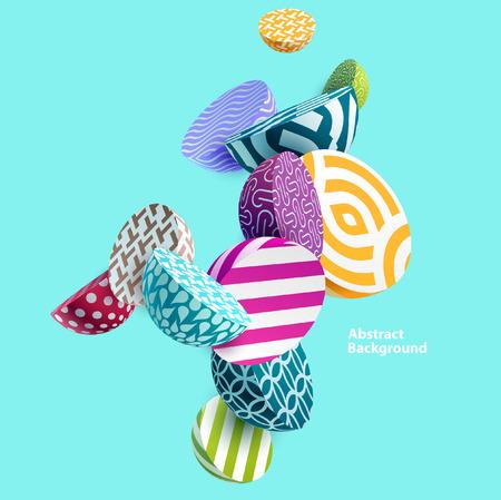 Illustration pour 3D multicolored geometric elements. - image libre de droit