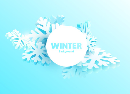 Illustration for Winter background with place for text - Royalty Free Image