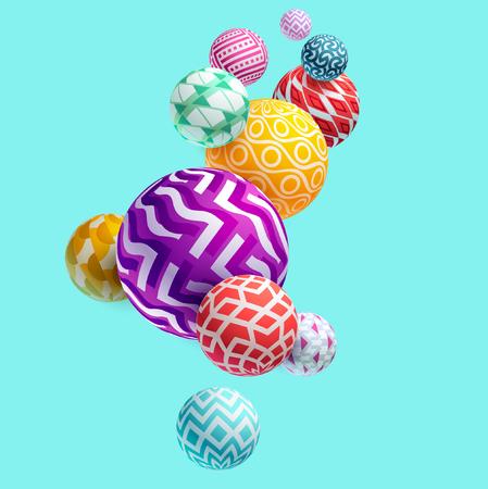 Illustration pour Multicolored 3D decorative balls - image libre de droit