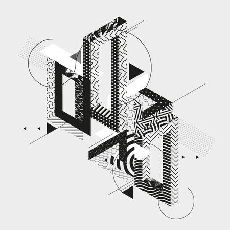 Ilustración de Abstract art background with geometric elements - Imagen libre de derechos