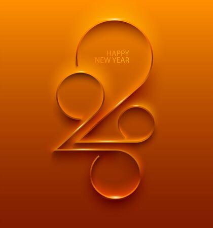 Ilustración de New year 2020. Design greeting card. - Imagen libre de derechos