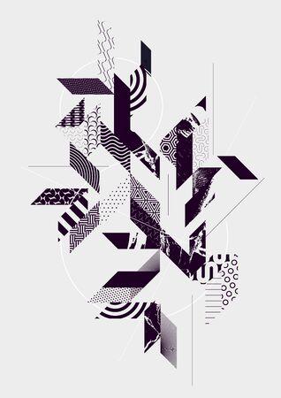 Illustration pour Abstract art background with geometric elements - image libre de droit