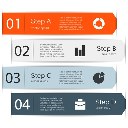 Illustration pour Modern options layout  Can be used for infographic  - image libre de droit