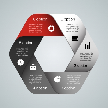 Illustration pour Layout for your options. Can be used for info graphic. - image libre de droit