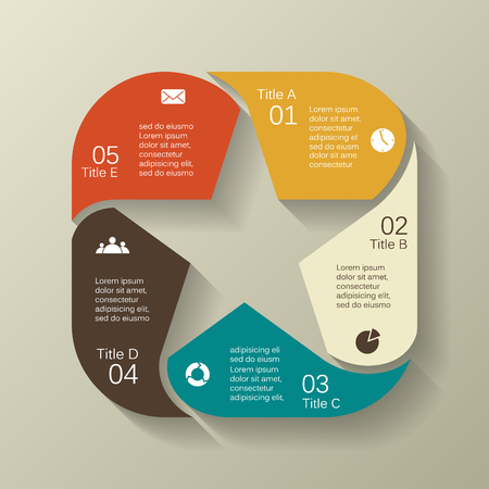 Ilustración de Layout for your options. Can be used for info graphic. - Imagen libre de derechos