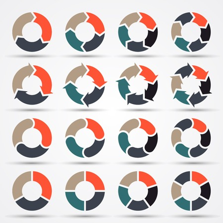 Illustrazione per Vector circle arrows for business infographic, diagram, graph, chart   - Immagini Royalty Free