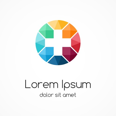 Illustration pour Plus sign logo template. Medical healthcare hospital symbol. - image libre de droit