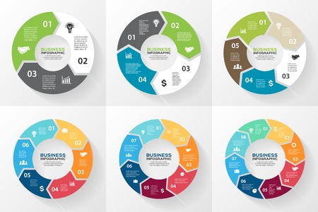 Illustration pour Circle arrows infographic, diagram, options. - image libre de droit