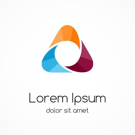 Illustration pour Abstract color logo template. Triangle sign. - image libre de droit