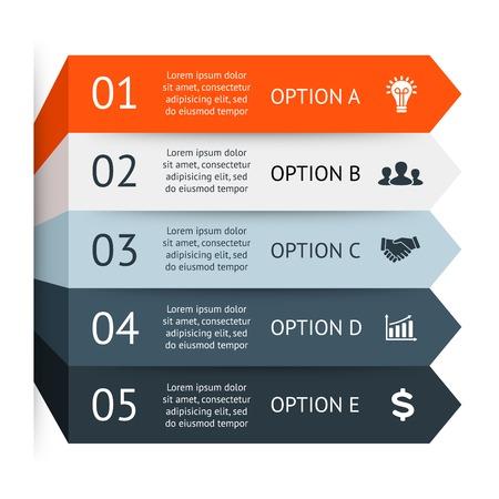 Illustration pour Business arrows infographic, diagram, graph - image libre de droit