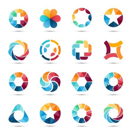 Illustration pour Logo set. Circle signs and symbols. - image libre de droit