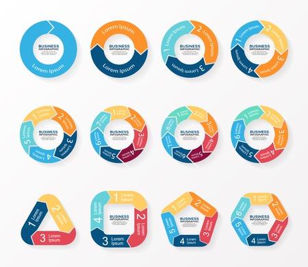 Ilustración de Circle arrows infographics, diagram, graph. - Imagen libre de derechos
