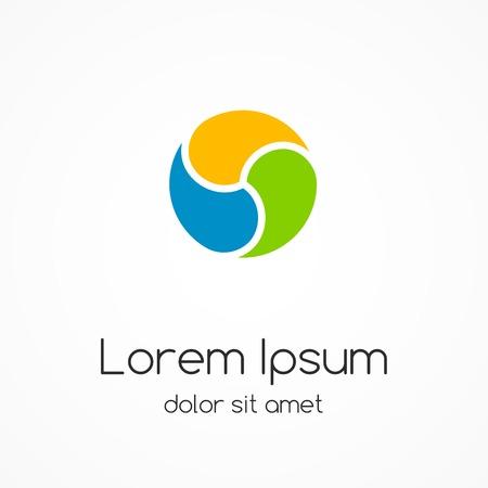 Ilustración de Logo template. Abstract circle creative sign. - Imagen libre de derechos