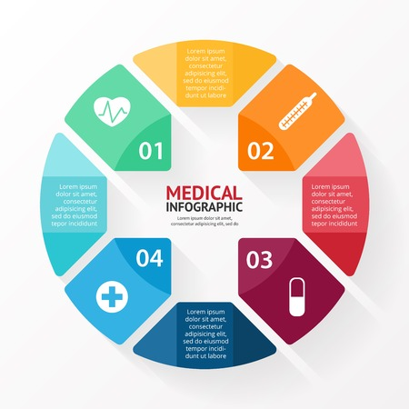 Illustration pour Medical plus sign healthcare hospital infographic - image libre de droit