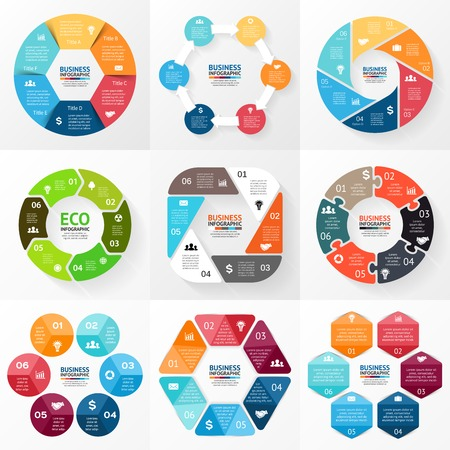 Ilustración de Circle infographic. Diagram, graph, presentation. - Imagen libre de derechos