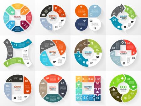 Illustration pour Vector circle arrows infographic, diagram, graph. - image libre de droit