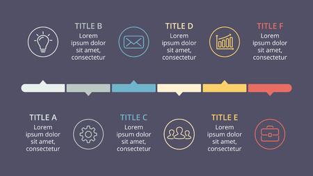 Ilustración de Vector circle arrows timeline infographic, cycle diagram, graph, presentation chart. - Imagen libre de derechos