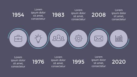 Ilustración de Vector metaball triangles timeline infographic, diagram chart, graph presentation. Business progress concept with 5 options, parts, steps, processes. Dark slide 16x9. - Imagen libre de derechos