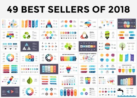 Ilustración de Presentation slide templates set with infographic elements. - Imagen libre de derechos