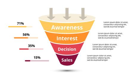 Illustration pour Circle arrows diagram for graph infographic presentation with steps parts options. - image libre de droit
