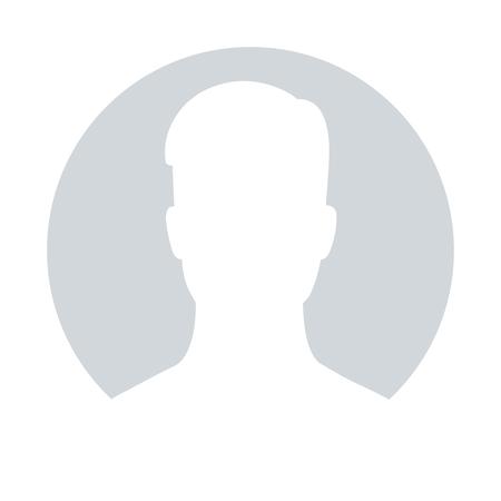 Illustrazione per Default avatar profile icon for male; Grey photo placeholder, illustrations vector - Immagini Royalty Free