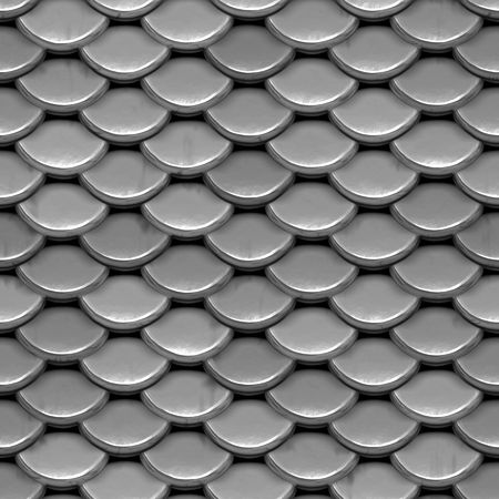 A texture that looks like shiny, silver armor or even the scales on a fish or reptile.  This image tiles seamlessly as a pattern.